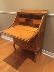 Antique Secretary Desk - Birdseye Maple -Rare Beauty