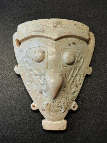 Chinese Jade mask amulet Shijiahe Culture God face Jade Pendant