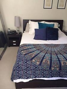 Queen Bed frame and 2 bedside tables Willoughby Willoughby Area Preview