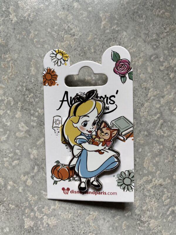 New Disney DLP DLRP Disneyland Paris Alice In Wonderland Dinah Animator Doll Pin