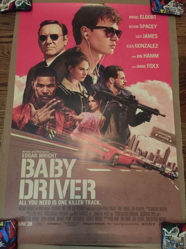 Baby Driver 27 X 40 ORIGINAL 2017 Movie Poster By Mondo artist RORY KURTZ.