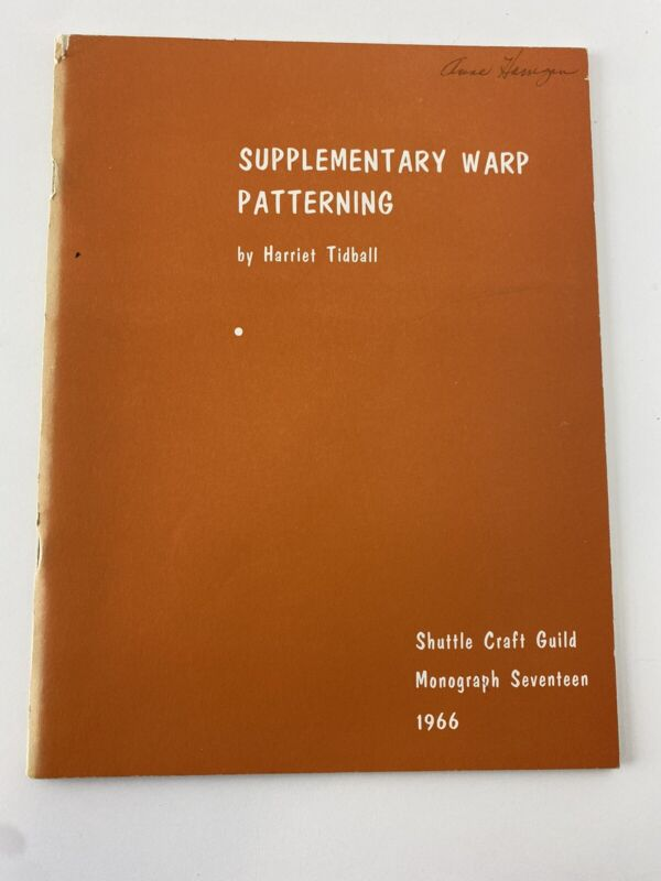 Supplementary Warp Patterning By Harriet Tidball