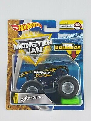 Hot Wheels Monster Jam Shocker 1/64th Monster Truck Re-crushable car (Hot Wheels Monster Jam Trucks 1 64)