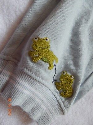 NWT Gymboree Boys 0-3 Months Baby Blue Frog Applique Pants SO SWEET New