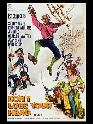 """Carry on Dont Lose Your Head 1966 16"""" x 12"""" Reproduction Movie Poster Photo 2"""