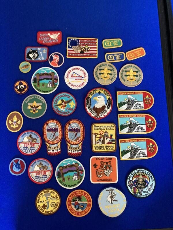 Vintage 80's 90's BSA Patch Lot Of 32