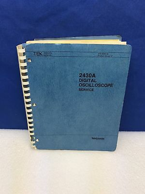 Tektronix 2430a Digital Oscilloscope Service Manual Wschematics
