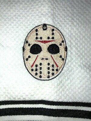 Embroidered Kitchen Bar Hand Towel  Jason Mask Character- Halloween Theme - Halloween Bar Themes