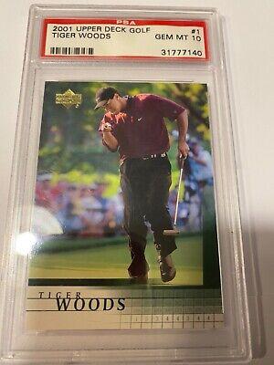 Tiger Woods Upper Deck Rookie Card PSA 10 gem mint