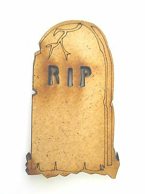10x WOODEN HALLOWEEN TOMBSTONE SHAPES gift craft card scrapbook embellishment](Halloween Tombstone Shapes)