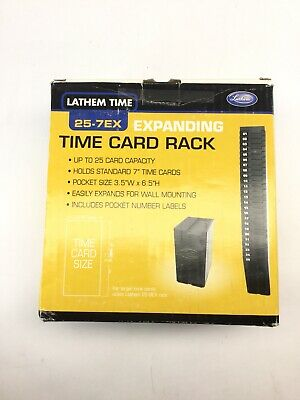 Lathem Time 25-7ex New Expandable Time Card Rack 25-pocket Holds 7 Cards