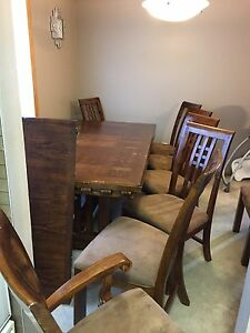 Dining Room Set - Table with 8 chairs - $350 obo