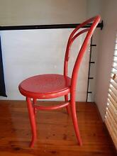 red bistro style vintage chair with soft pad Perth CBD Perth City Preview