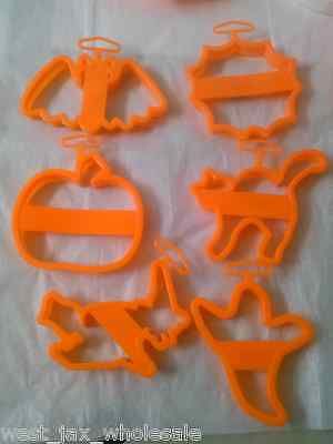 Cake Mate Halloween Cookie Cutters Ghost Bat Pumpkin Spider Web Witch Cat x 36 - Halloween Cookie Cakes