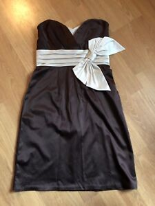 Charlotte Russ silky brown cabaret dress