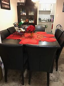 REAL WOOD 8 seater dining set + cabinet