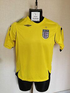 BNWT New Umbro Yellow England Large Boys LB Goalkeeper Goalie Football Shirt d23d74a6b4