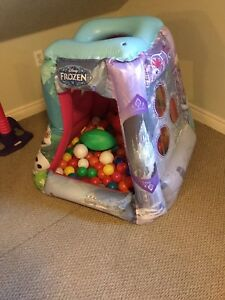 Frozen ball pit, extra balls included