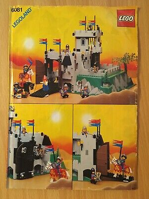Vintage Lego Castle 6081 King's Mountain Fortress - Instruction Manual Only