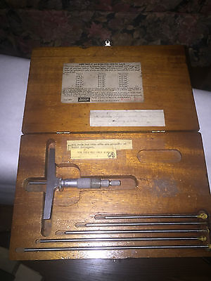 Lufkin No. 514 Depth Micrometer Set