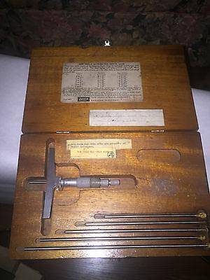 Lufkin No. 514 Depth Micrometer Set