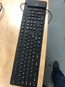 Rubber soft keyboard with usb
