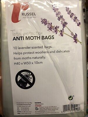 Anti Moth Insect Repellent Everyday Storage Bags Lavender Scented Pack Of 10 New