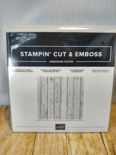 Stampin Up Pinewood Planks 3D Embossing Folder - New