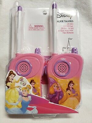Disney Walkie Talkies 49 MHz 100-120 Feet Princess Ages 3+ NEW - Disney Princesses Age