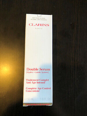 Clarins Double Serum Complete Age Control Concentrate - 1.6oz / 50ML SERUM - NEW