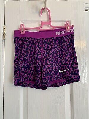 "Nike Pro Dri Fit 3"" Running Shorts Purple Size M"