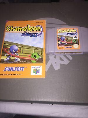 Chameleon Twist N64 Nintendo 64 Loose Cartridge And Booklet Pal