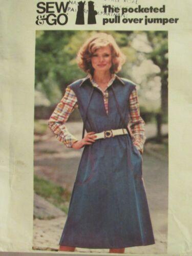 Lovely VTG 80s BUTTERICK 4663 Misses Pocketed Pullover Jumper PATTERN Sm/8-10
