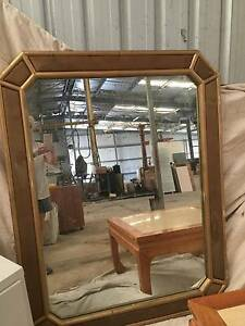 Chinese gold edged oriental mirror with fabric inserts Lockyer Valley Preview