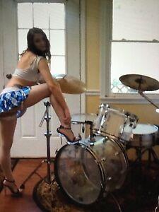ludwig Vistalite drum set,1970s,clear