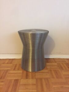 Silver wire accent side table