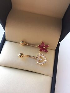 Belly rings 14kt stamped, reduced $75.00 each