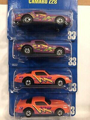Hot Wheels #33 Camaro Z-28 Lot of 4 Orange And Purple bw FREE Shipping!!!