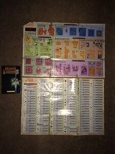 Rare Dragon Warrior 2,3 and 4 Maps with Manuals London Ontario image 2