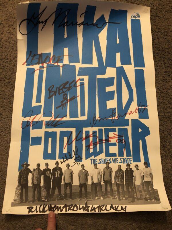 Lakai Footwear Signed Skateboard Poster