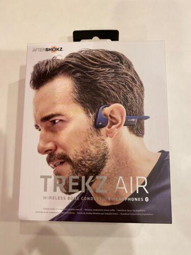 Aftershokz AIR wireless bone conduction headphonesAS650 Midnight Blue New in Box