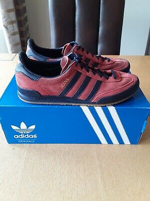 ADIDAS JEANS MKII SIZE UK 6 - RED/CONVAY/GUM2