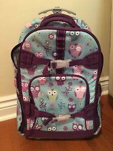 Pottery Barn Rolling Backpack w/ matching lunchbag & thermos