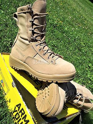 NEW US Army Military Belleville 790V Desert Tan Flight Combat GTX Boots 9.5 W