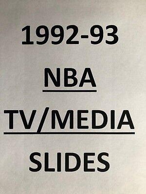 1992-93 TV MEDIA SLIDES NBA BASKETBALL  $1.99 each MANY different!! MANY TEAMS!! ()