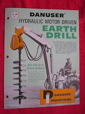 Vintage Danuser Hydraulic Earth Drill Post Hole Digger Literature Brochure