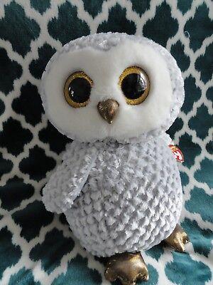 Ty Beanie Boo Owlette Large Jumbo 16 17 Inch Owl Grey Great Shape