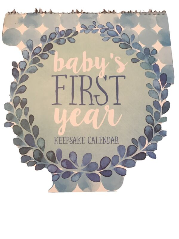 C. R. Gibson Keepsake Calendar Boy Baby's First Year
