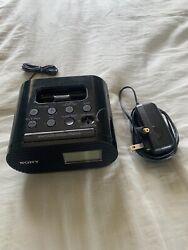 Sony iPhone/iPod Speaker Dock ICF-CO5iP with Alarm Clock and FM Radio, Clean