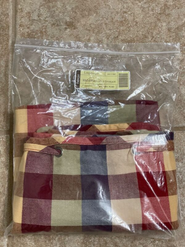 Longaberger Liner Large Storage Solutions Woven Traditions Plaid